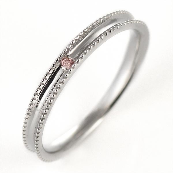 ピンクダイヤモンド ペアリング 結婚指輪 マリッジリング K18ホワイトゴールド 【DEAL】 末広 スーパーSALE【今だけ代引手数料無料】