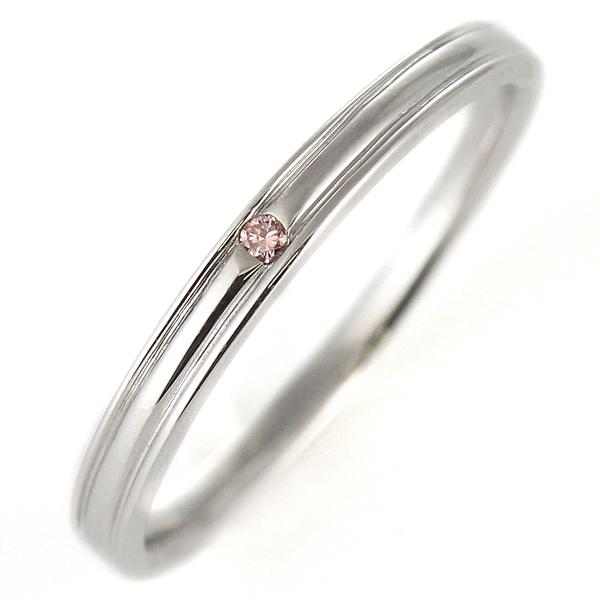 ピンクダイヤモンド ペアリング 結婚指輪 マリッジリング K18ホワイトゴールド 末広 スーパーSALE【今だけ代引手数料無料】