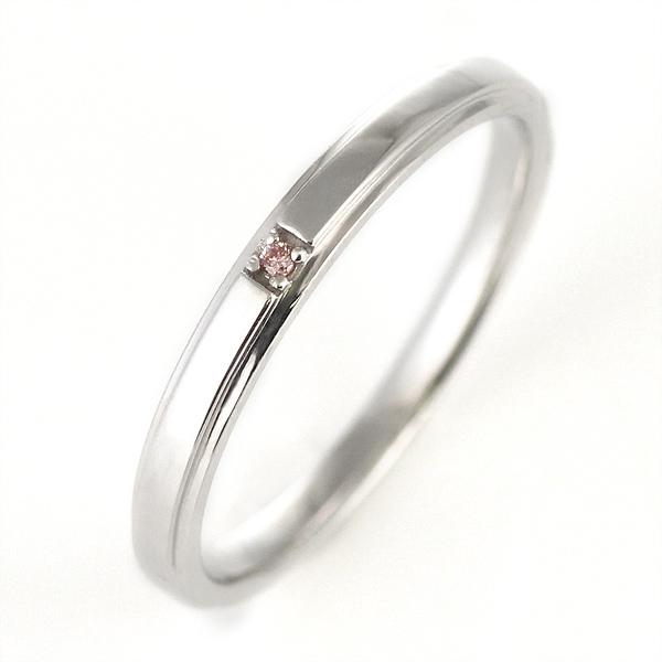 ピンクダイヤモンド プラチナ 結婚指輪 マリッジリング ペアリング