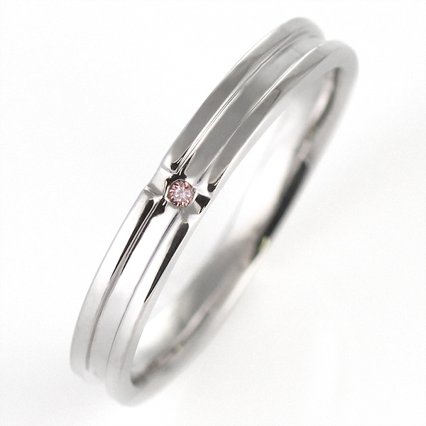 ピンクダイヤモンド プラチナ 結婚指輪 マリッジリング ペアリング【DEAL】
