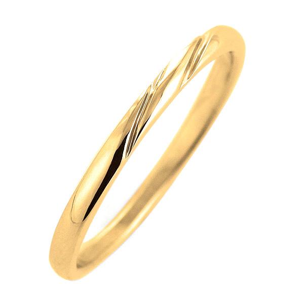 結婚指輪 マリッジリング イエローゴールド リング 末広 スーパーSALE【今だけ代引手数料無料】