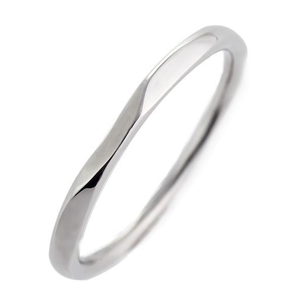 ペアリング 結婚指輪 マリッジリング ホワイトゴールド リング