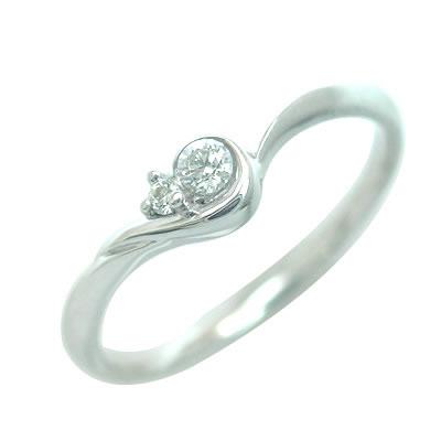 ダイヤモンド ダイヤ ( 4月誕生石 ) K18ホワイトゴールド ダイヤモンドリング 末広 スーパーSALE