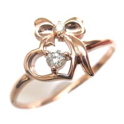 ダイヤモンド ダイヤ ( 4月誕生石 ) K10ピンクゴールド ダイヤモンドリング【DEAL】
