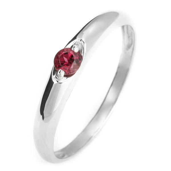 ペアリング メンズリング 結婚指輪 マリッジリング ペアリング プラチナ リング ガーネット 1月 誕生石