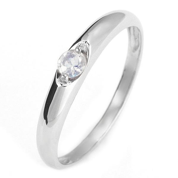 ペアリング メンズリング 結婚指輪 マリッジリング ペアリング プラチナ リング ムーンストーン 6月 誕生石