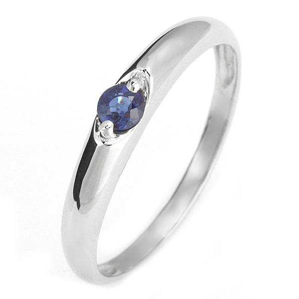 ペアリング メンズリング 結婚指輪 マリッジリング ペアリング プラチナ リング サファイア 9月 誕生石