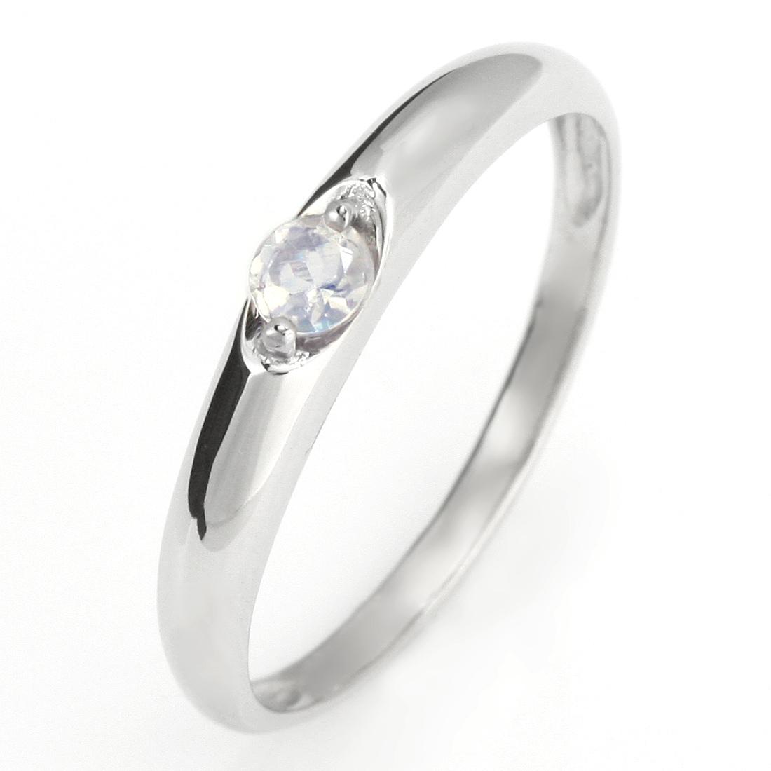 ペアリング 結婚指輪 マリッジリング プラチナ リング ムーンストーン 6月 誕生石【DEAL】