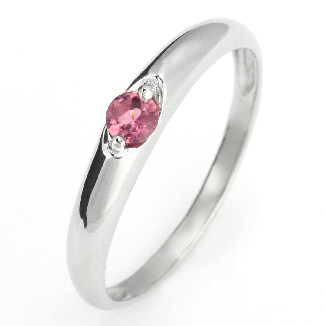 ペアリング 結婚指輪 マリッジリング プラチナ リング ピンクトルマリン 10月 誕生石【DEAL】