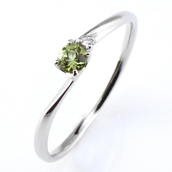 プラチナ リング ペリドット ペリドット 8月 誕生石 プラチナ リング 指輪【DEAL】