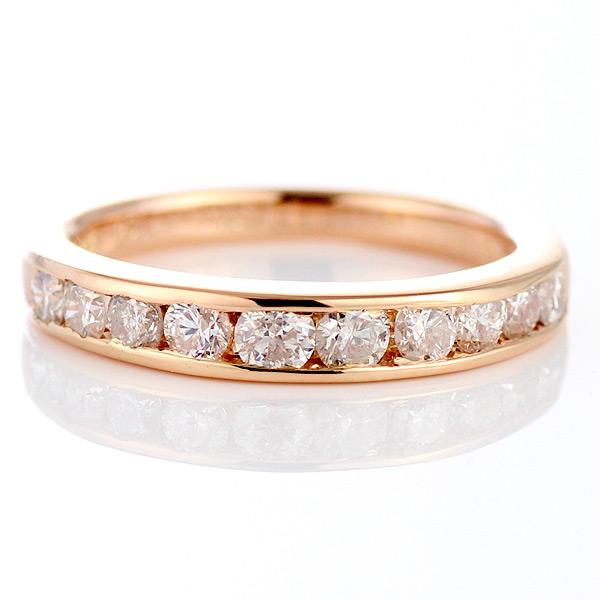 スイート エタニティ ダイヤモンド ピンクゴールド エタニティ リング 1カラット 結婚 10周年記念 【DEAL】