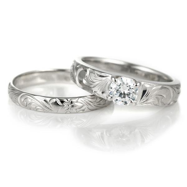 ハワイアンジュエリー 結婚指輪 鑑別書付き ハワイアン プラチナ ダイヤモンド リング 一粒 大粒 指輪 ハワイアンリング PT900