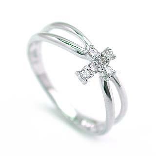 ( K18WG )ダイヤモンドデザインリング【DEAL】