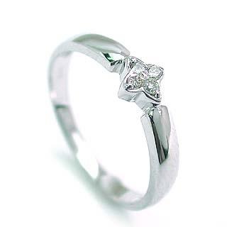 ( K18WG )ダイヤモンドデザインリング