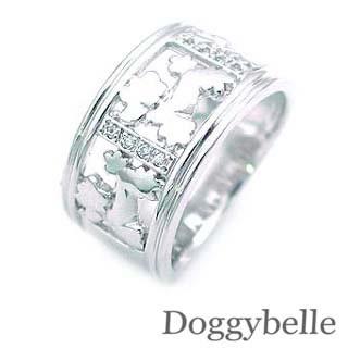 ( K18WG )ダイヤモンドデザインリング 犬 【DEAL】 末広 スーパーSALE【今だけ代引手数料無料】