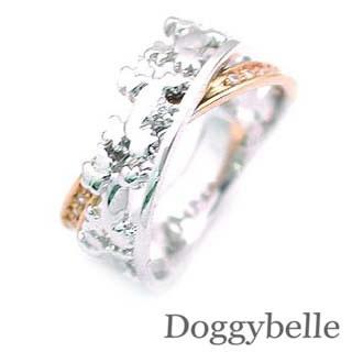 ダイヤモンド リング ホワイトゴールド ピンクゴールド 犬 【DEAL】