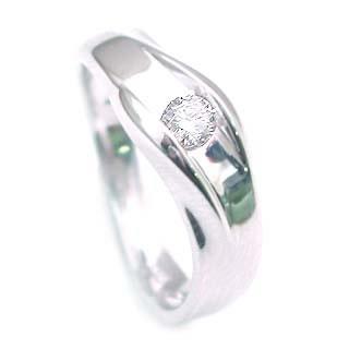 ダイヤモンド ダイヤ ( 4月誕生石 ) K18WG ダイヤモンドデザインリング 末広 スーパーSALE