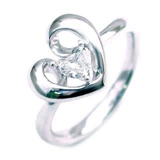 ダイヤモンド ダイヤ ( 4月誕生石 ) K18WG ダイヤモンドデザインリング