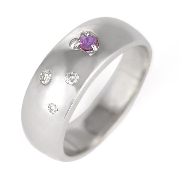 アメジスト ( 2月誕生石 ) K18WG アメジスト・ダイヤモンドトリング