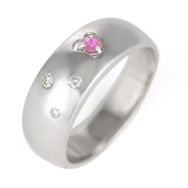 10月誕生石 ピンクトルマリン K18WG ピンクトルマリン・ダイヤモンドリング
