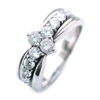 ダイヤモンド ダイヤ ( 4月誕生石 ) Pt ダイヤモンドリング