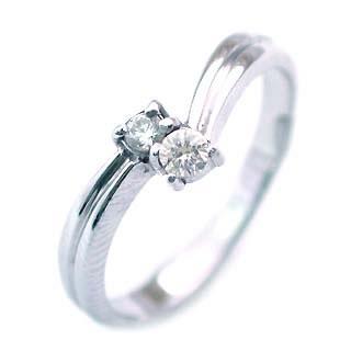 ダイヤモンド ダイヤ ( 4月誕生石 ) K18WG ダイヤモンドリング 【DEAL】