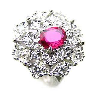 ( Brand Jewelry ASPIRARE ) Pt ルビーリング 【DEAL】