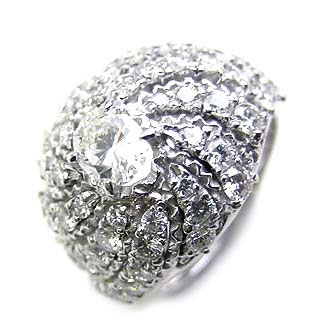 ( Brand Jewelry ASPIRARE ) Pt ダイヤモンドリング【DEAL】