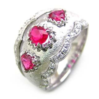 ( Brand Jewelry ASPIRARE ) Pt ルビーリング