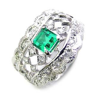 ( Brand Jewelry ASPIRARE ) Pt エメラルドリング【DEAL】