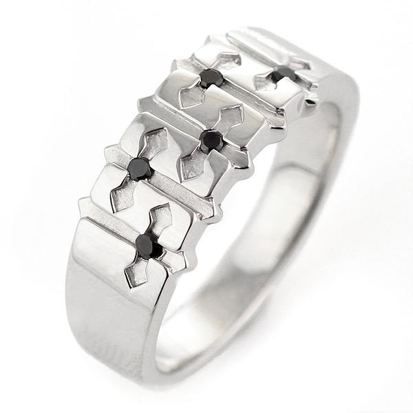 指輪 レディース リング シルバー925 ブラックダイヤモンド【DEAL】