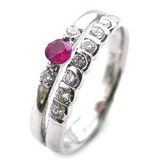 プラチナ ルビー・ダイヤモンドリング(婚約指輪・エンゲージリング) 末広 スーパーSALE【今だけ代引手数料無料】