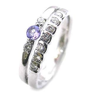 プラチナ タンザナイト・ダイヤモンドリング(婚約指輪・エンゲージリング)