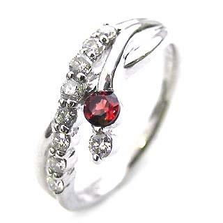 ダイヤモンド リング プラチナ ダイヤモンド リング ダイヤモンド 1月 誕生石 ガーネット ラッピング無料