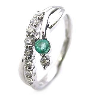ダイヤモンド リング プラチナ ダイヤモンド リング ダイヤモンド 5月 誕生石 エメラルド ラッピング無料