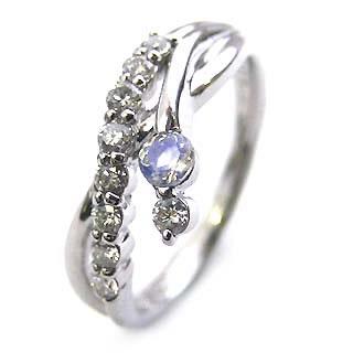 ダイヤモンド リング プラチナ ダイヤモンド リング ダイヤモンド 6月 誕生石 ムーンストーン ラッピング無料 末広 スーパーSALE