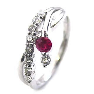 ダイヤモンド リング プラチナ ダイヤモンド リング ダイヤモンド 7月 誕生石 ルビー ラッピング無料