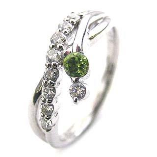 ダイヤモンド リング プラチナ ダイヤモンド リング ダイヤモンド 8月 誕生石 ペリドット ラッピング無料