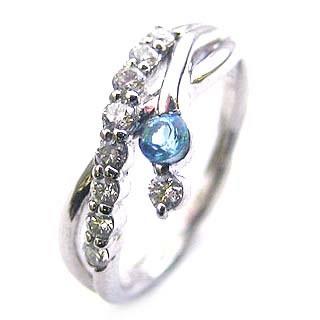 ダイヤモンド リング プラチナ ダイヤモンド リング ダイヤモンド 11月 誕生石 ブルートパーズ ラッピング無料