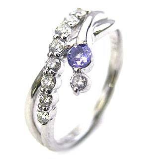 ダイヤモンド リング プラチナ ダイヤモンド リング ダイヤモンド 12月 誕生石 タンザナイト ラッピング無料