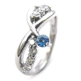 プラチナ ブルートパーズ・ダイヤモンドリング(婚約指輪・エンゲージリング)【】【DEAL】 末広 スーパーSALE【今だけ手数料無料】