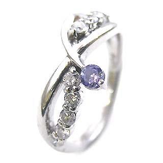 プラチナ タンザナイト・ダイヤモンドリング(婚約指輪・エンゲージリング)【】【DEAL】 末広 スーパーSALE【今だけ手数料無料】