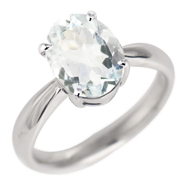 アクアマリン リング プラチナ 3月 誕生石 指輪