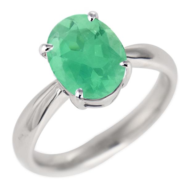 エメラルド リング プラチナ 5月 誕生石 指輪