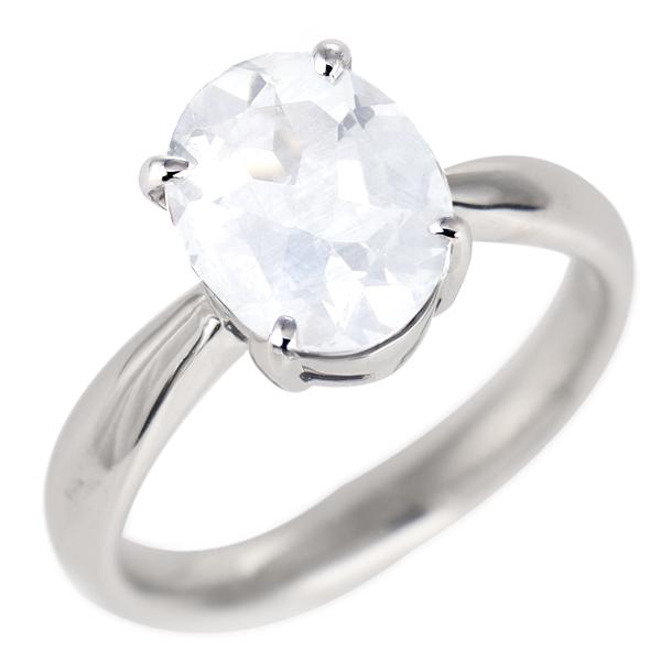 ムーンストーン リング プラチナ 6月 誕生石 指輪