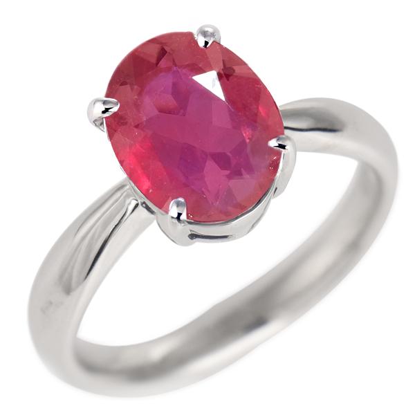 ルビー リング プラチナ 7月 誕生石 指輪