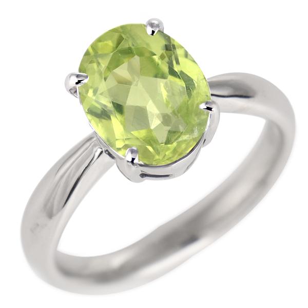 ペリドット リング プラチナ 8月 誕生石 指輪
