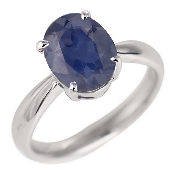 サファイア リング プラチナ 9月 誕生石 指輪