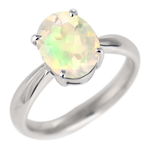 オパール リング プラチナ 10月 誕生石 指輪