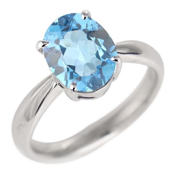 ブルートパーズ リング プラチナ 11月 誕生石 指輪